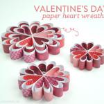 Valentine's Day Paper Heart Wreaths