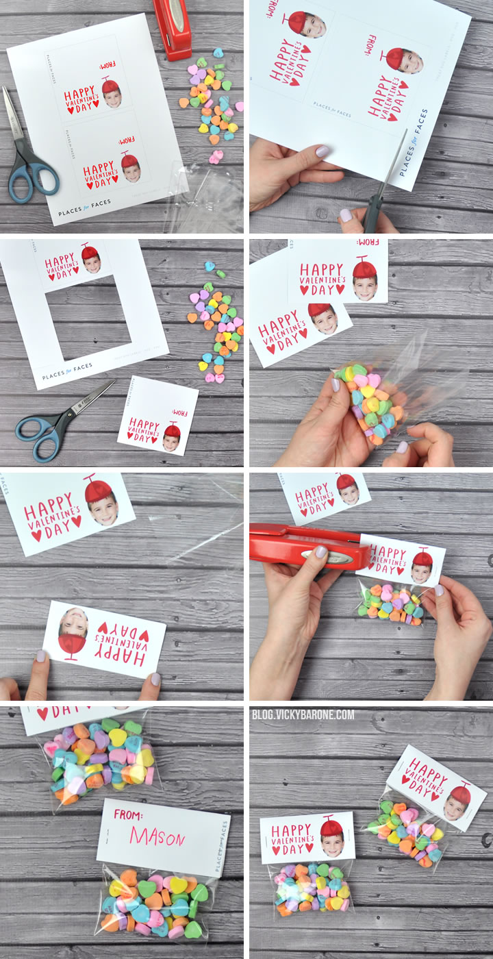 Personalize Your Valentine's Day with Places for Faces | Vicky Barone | custom printable valentines