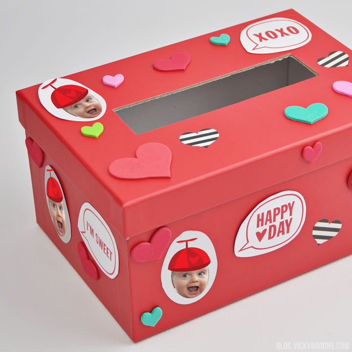 Decorate a Valentine Box with Places for Faces | Vicky Barone