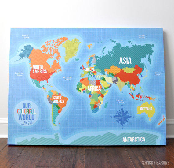 Our Colorful World Canvas Wall Art