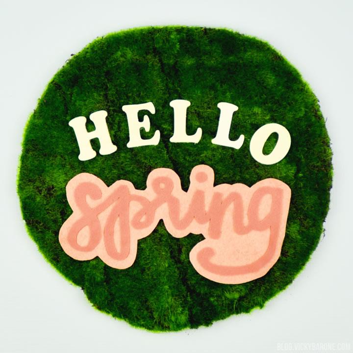 DIY Moss Door Hanger | Hello Spring | Vicky Barone
