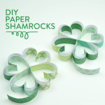 DIY Paper Shamrocks