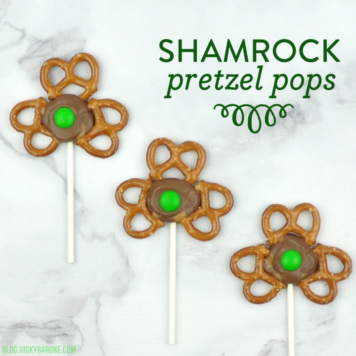 Shamrock Pretzel Pops | Vicky Barone