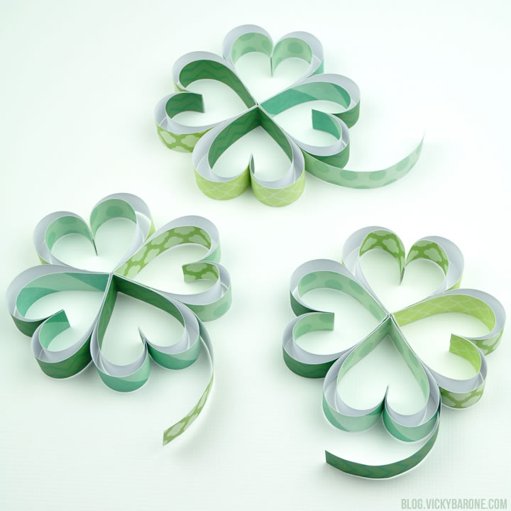 DIY Paper Shamrocks | Vicky Barone