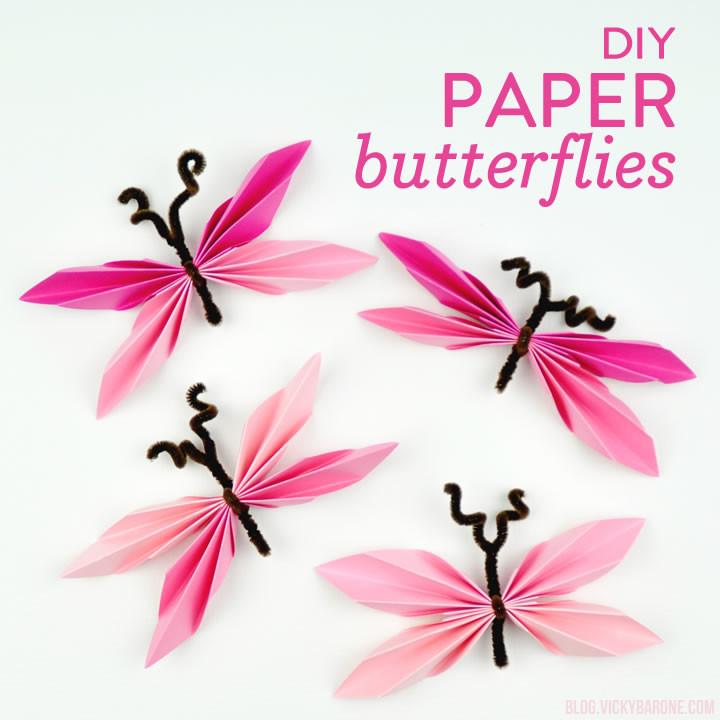 DIY Paper Butterflies | Vicky Barone
