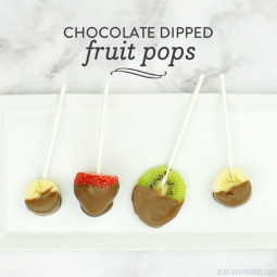 Chocolate Dipped Fruit Pops | Vicky Barone