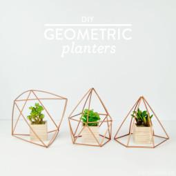DIY Geometric Planters | Vicky Barone