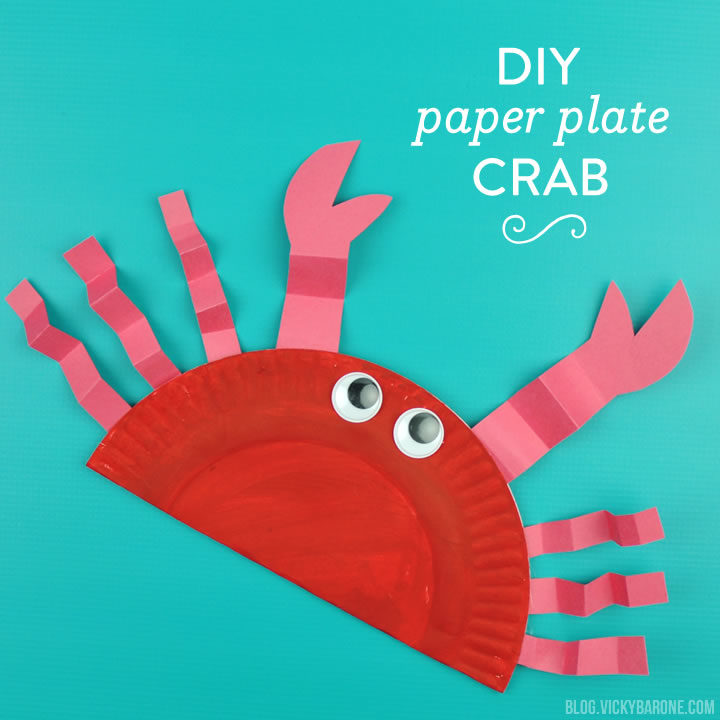 DIY Paper Plate Crab | Summer Craft for Kids | Vicky Barone & DIY Paper Plate Crab - Vicky Barone