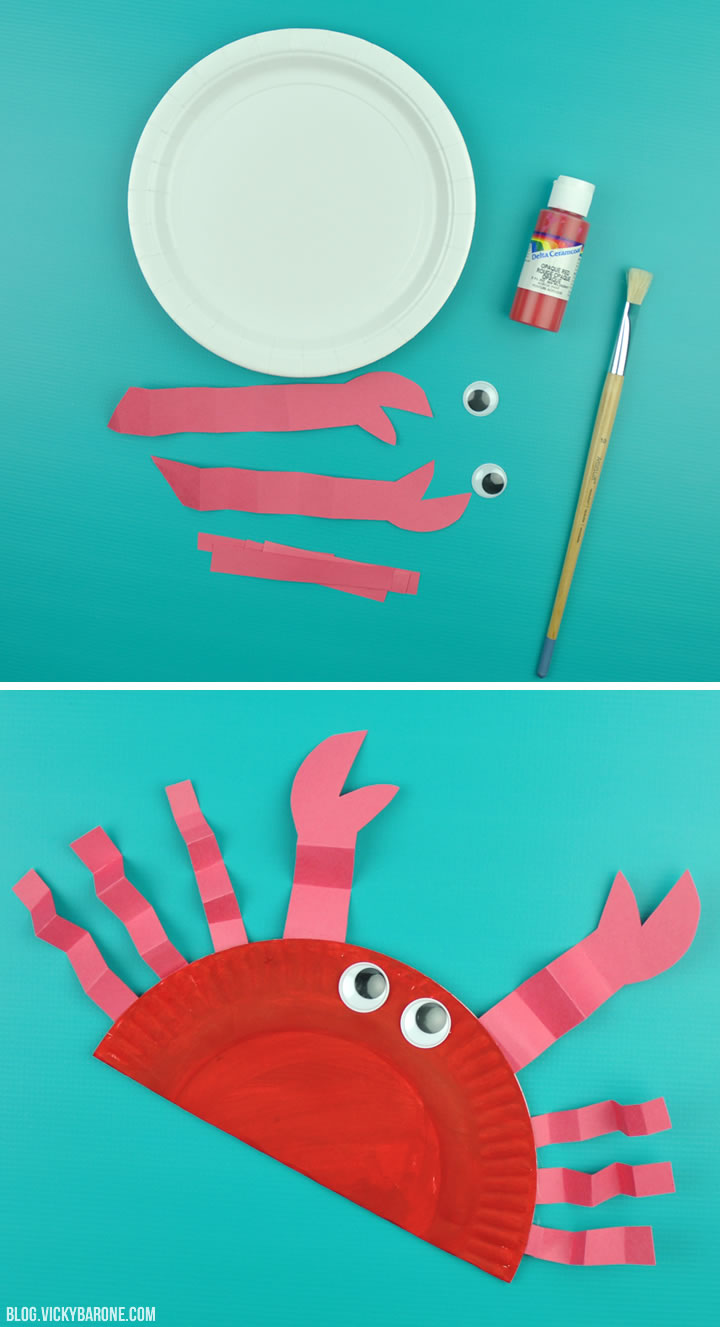Making Learning Fun Crab Paper Plate Shaker  sc 1 st  10000+ Best Deskripsi Plate 2018 & Paper Plate Crab - Best Plate 2018