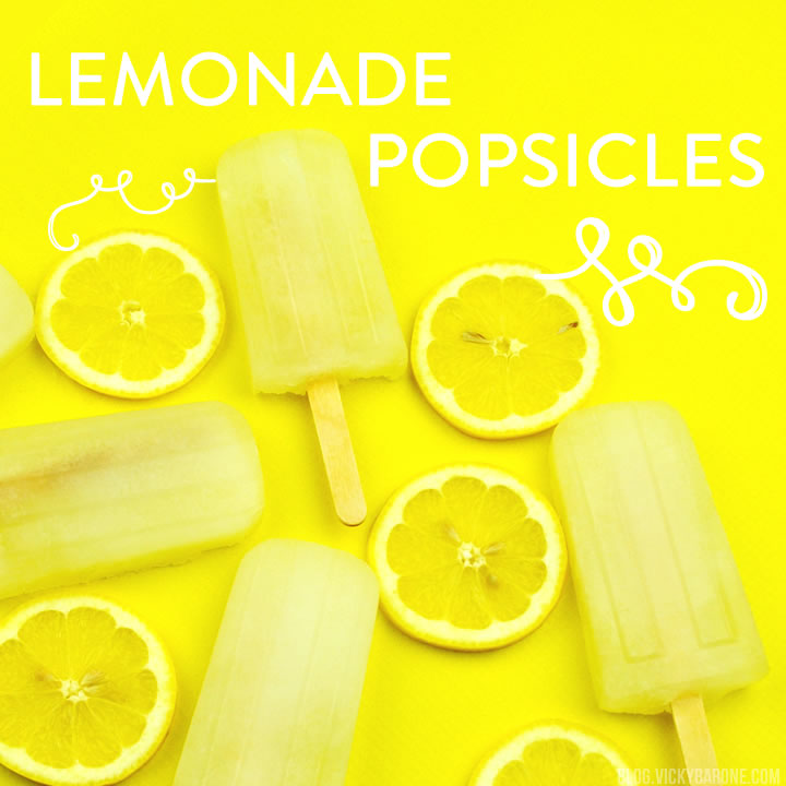 how to make popsicles with lemonade