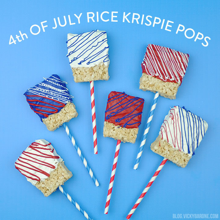 4th of July Rice Krispie Pops | Vicky Barone