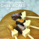Chocolate Covered Cheesecake on a Stick