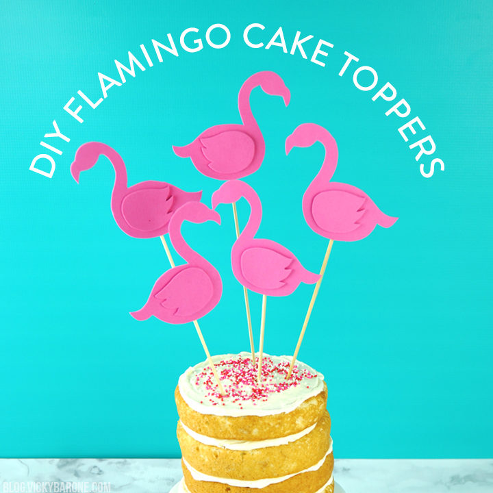 DIY Flamingo Cake Topper | Vicky Barone