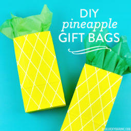 DIY Pineapple Gift Bags | Vicky Barone