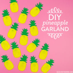 DIY Pineapple Garland | Vicky Barone