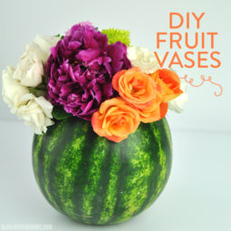 DIY Fruit Vases | Watermelon Vase | Pineapple Vase Centerpiece | Vicky Barone