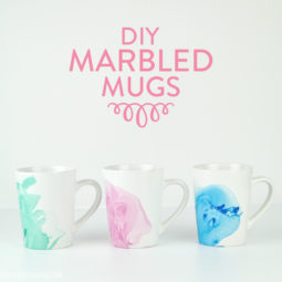 DIY Marbled Mugs | Vicky Barone