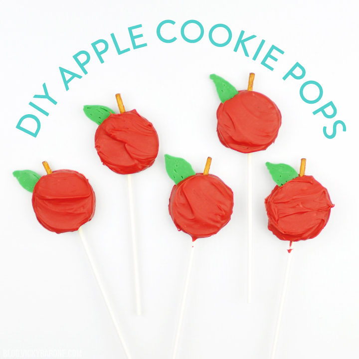 DIY Apple Cookie Pops | Back to school ideas | Vicky Barone