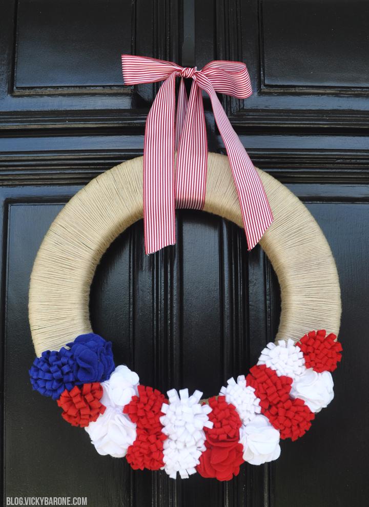 DIY Patriotic Wreath | Labor Day | 4th of July | Vicky Barone