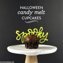 Halloween Candy Melt Cupcakes