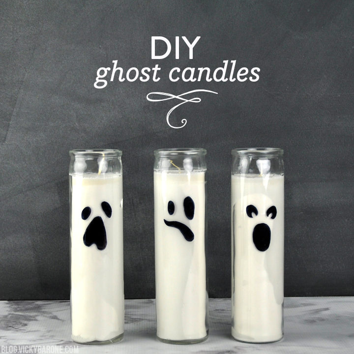 DIY Ghost Candles | Vicky Barone