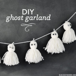 DIY Ghost Garland | Vicky Barone