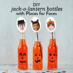 DIY Jack-o-Lantern Soda Bottles