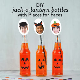 DIY Jack-o-Lantern Soda Bottles | Vicky Barone | Places for Faces