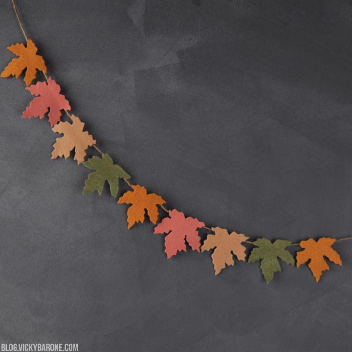 DIY Felt Leaf Garland | Vicky Barone