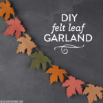 DIY Felt Leaf Garland