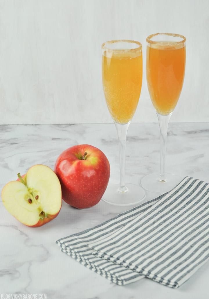 Apple Cider Mimosas | Vicky Barone