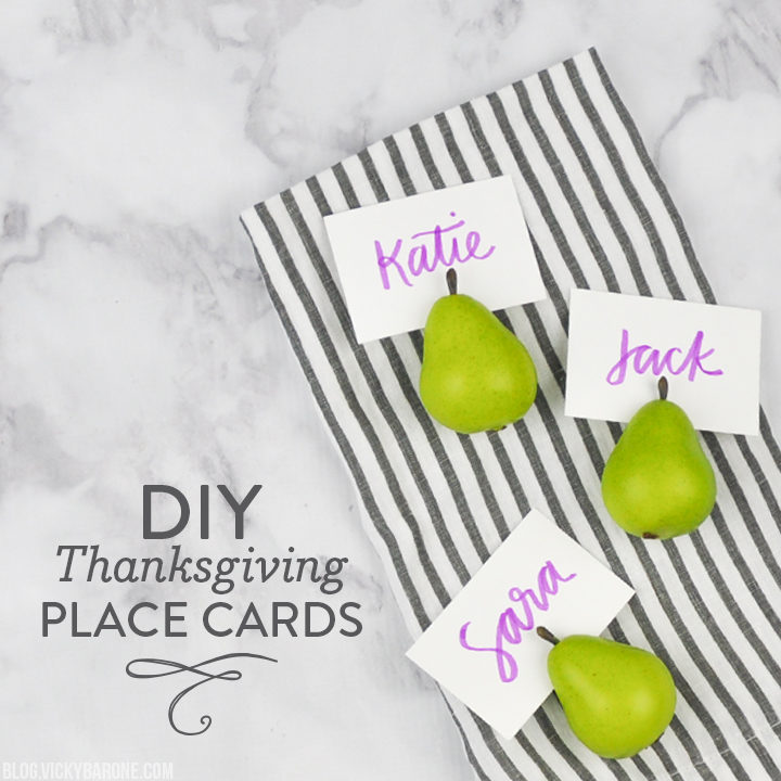 Diy Thanksgiving Place Cards Vicky Barone