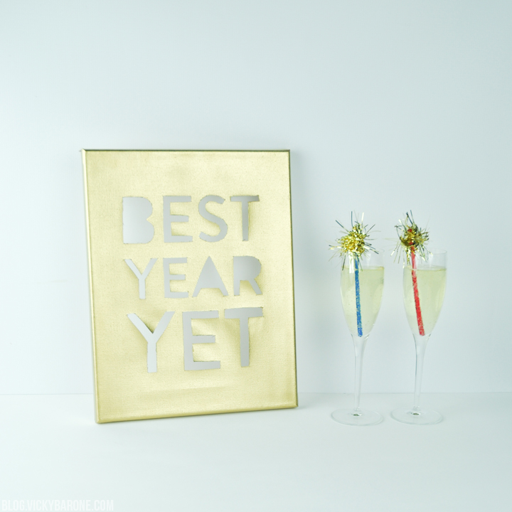 DIY New Year's Eve Canvas | Best Year Yet | Vicky Barone