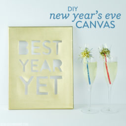 DIY New Year's Eve Canvas