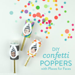 DIY Confetti Poppers with Places for Faces