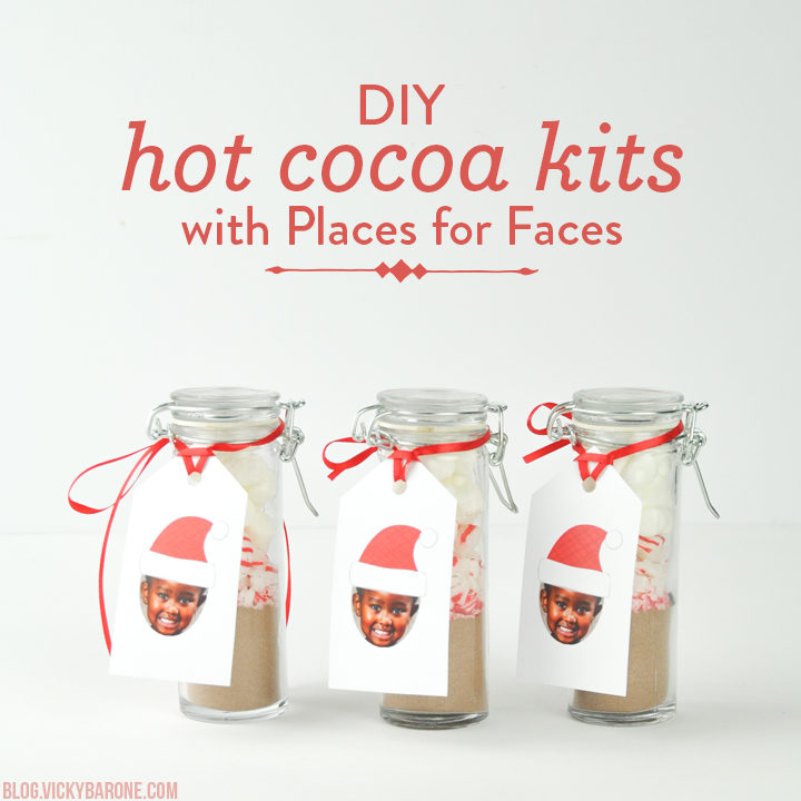 DIY Hot Cocoa Kits with Places for Faces | Vicky Barone