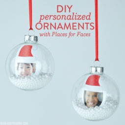 DIY Personalized Ornaments with Places for Faces