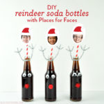DIY Reindeer Soda Bottles with Places for Faces