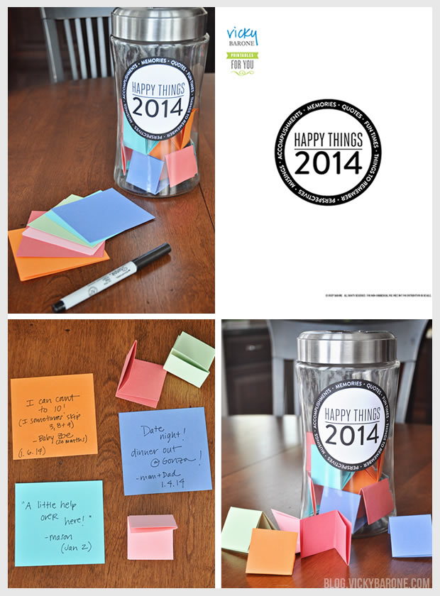 Happy Things Jar Free Printable | Vicky Barone
