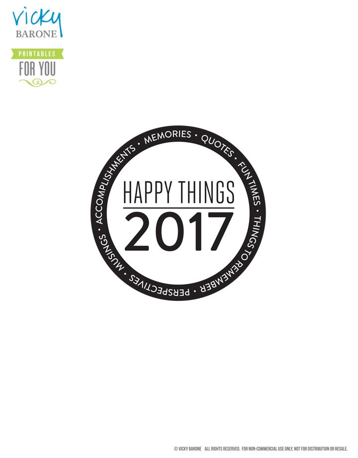 Happy Things Memory Jar 2017 | Vicky Barone