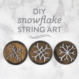 DIY Snowflake String Art | Vicky Barone