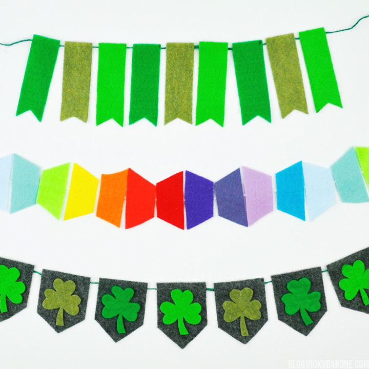 St. Patrick's Day Felt Garlands | Vicky Barone