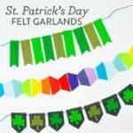 St. Patrick's Day Felt Garlands