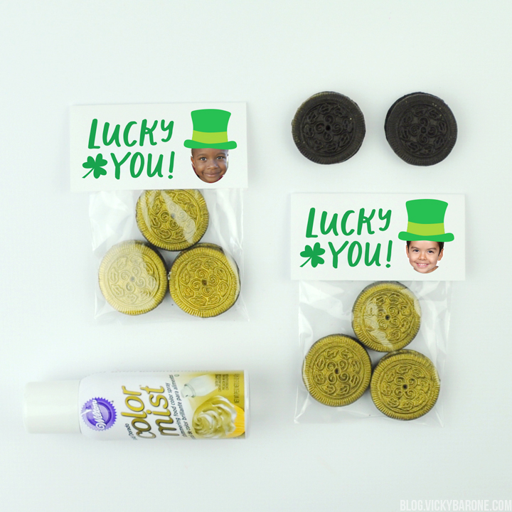 DIY Gold Cookie Favors with Places For Faces | Vicky Barone