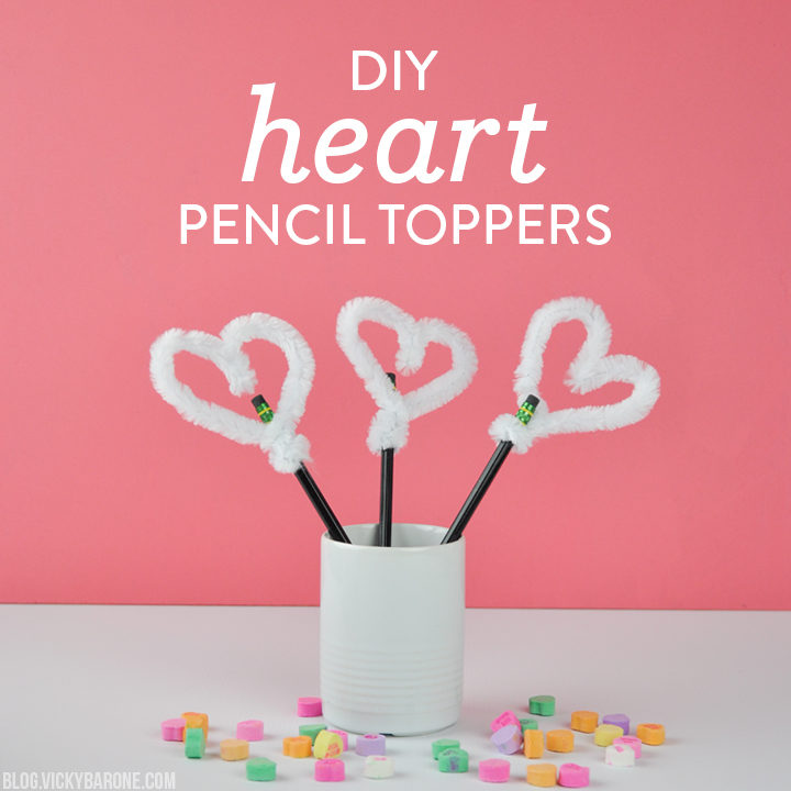 DIY Heart Pencil Toppers | Valentine's Day Crafts | Vicky Barone