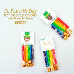 St. Patrick's Day Pot of Gold Favors with Places for Faces