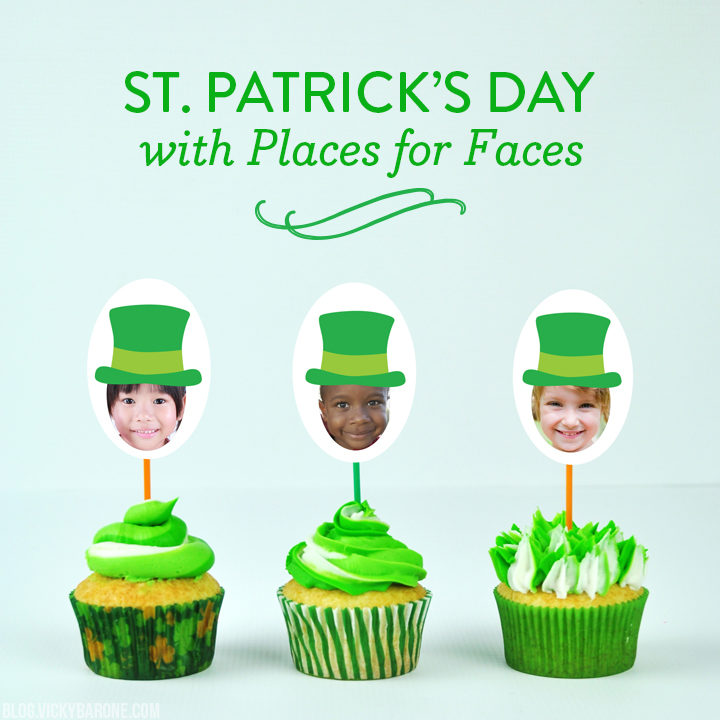St. Patrick's Day with Places for Faces | Personalized DIY Favors | Vicky Barone