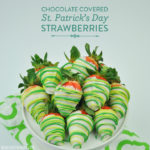 Chocolate Covered St. Patrick's Day Strawberries