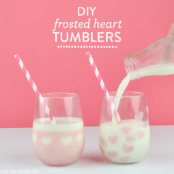 DIY Frosted Heart Tumblers | Vicky Barone